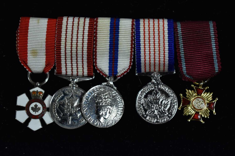 Lot 1501-Canadian miniature medals
