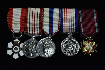 Lot 1501-Canadian miniature medals