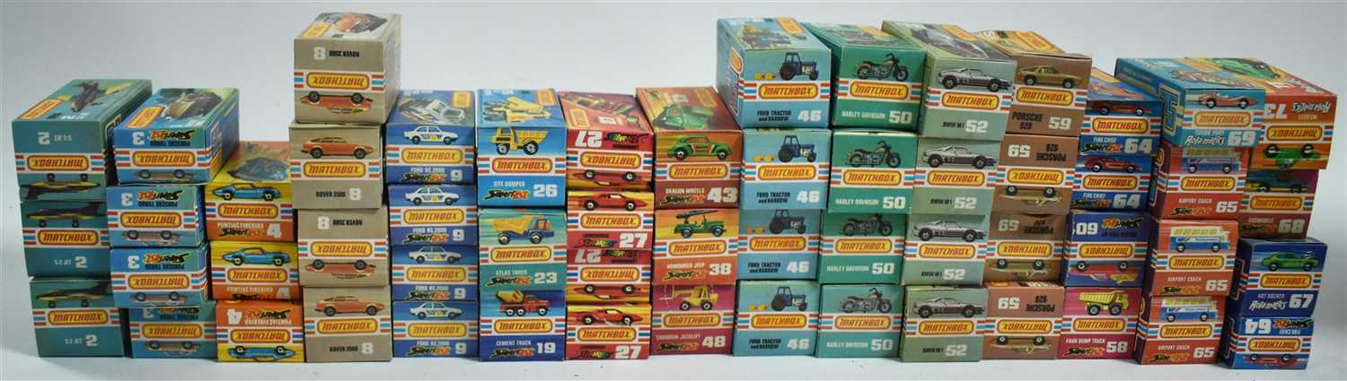 Lot 193-Matchbox 1-75 series diecast vehicles
