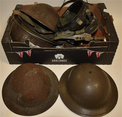 Lot 3-British Brodie type helmets