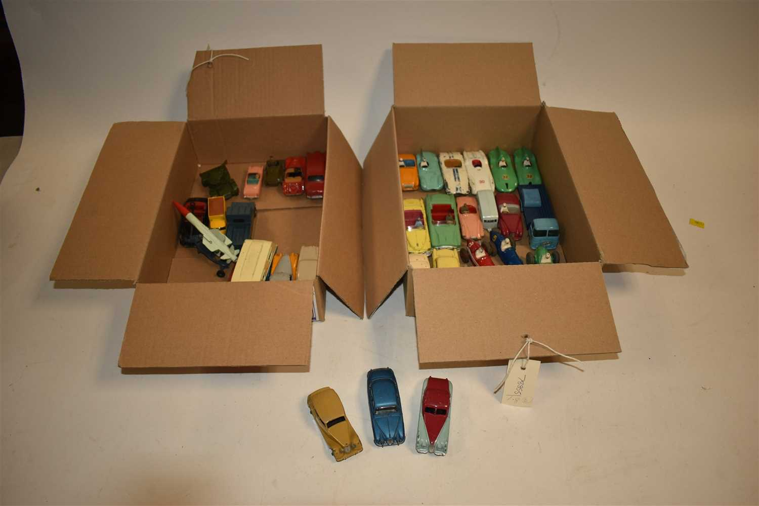 Lot 211 - Two boxes of diecast cars