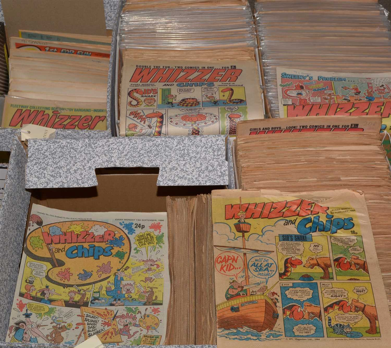 Lot 7-A collection of Whizzer and Chips comics from...