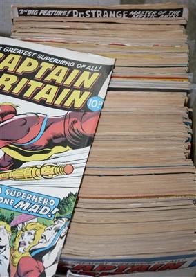 Lot 1220-British Marvel comics: Captain Britain, etc.