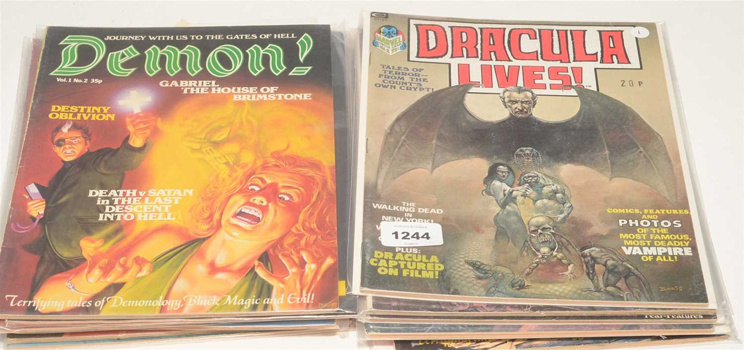 Lot 1244-Marvel and Curtis horror magazines