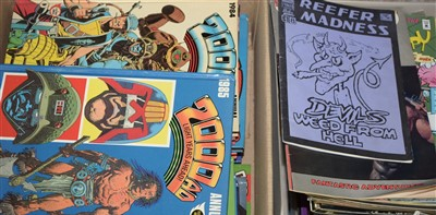 Lot 1270 - 2000 A.D. and Judge Dredd Annuals and other comics