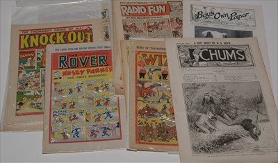 Lot 16-A small collection of early British comics