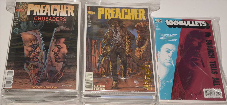 Lot 8-The Preacher by DC Vertigo; and 100 Bullets, sundry issues
