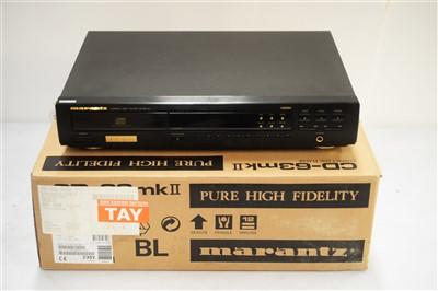 Lot 38 - A Marantz compact disc player 63 MKII