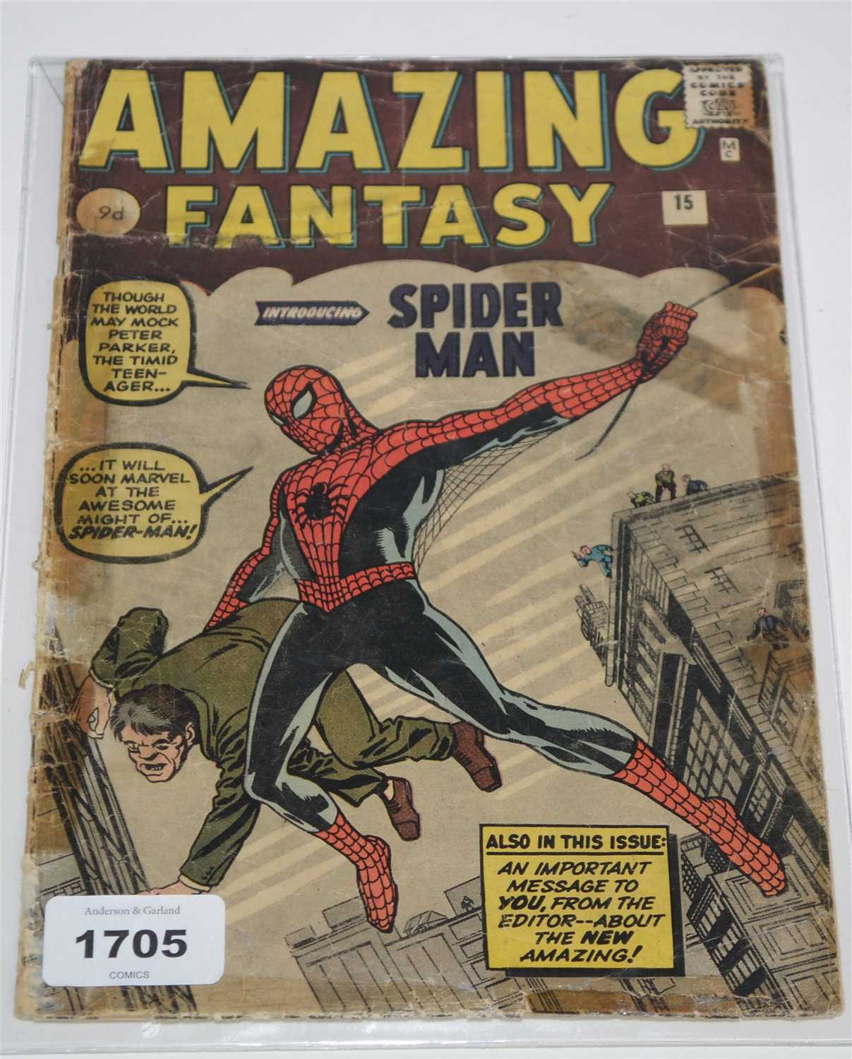 Lot 1705-Amazing Fantasy No.15 Comic