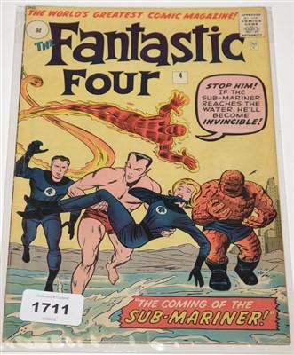 Lot 1711 - The Fantastic Four No.4 Comic