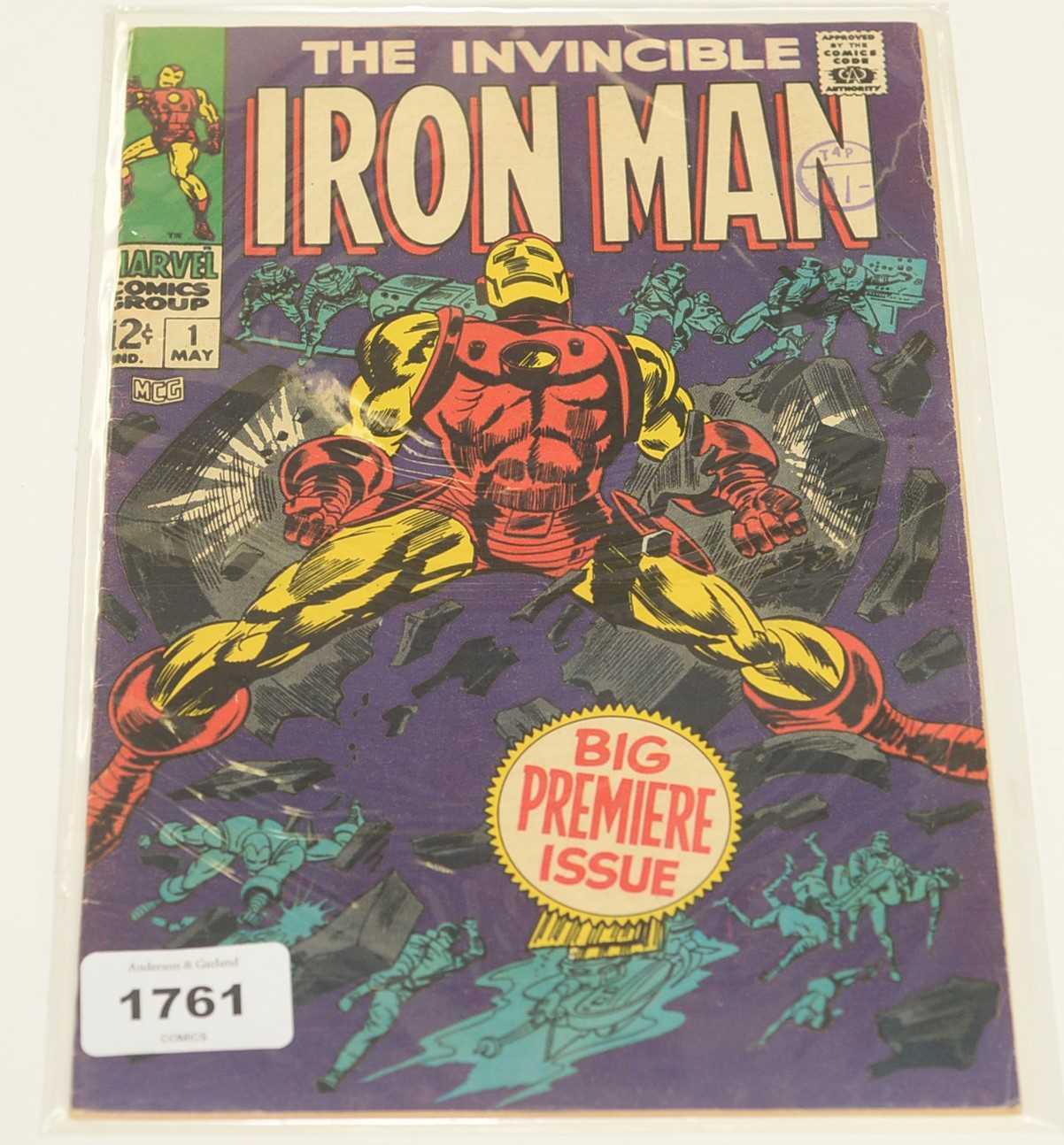 Lot 1761-The Invincible Iron Man No.1 Comic