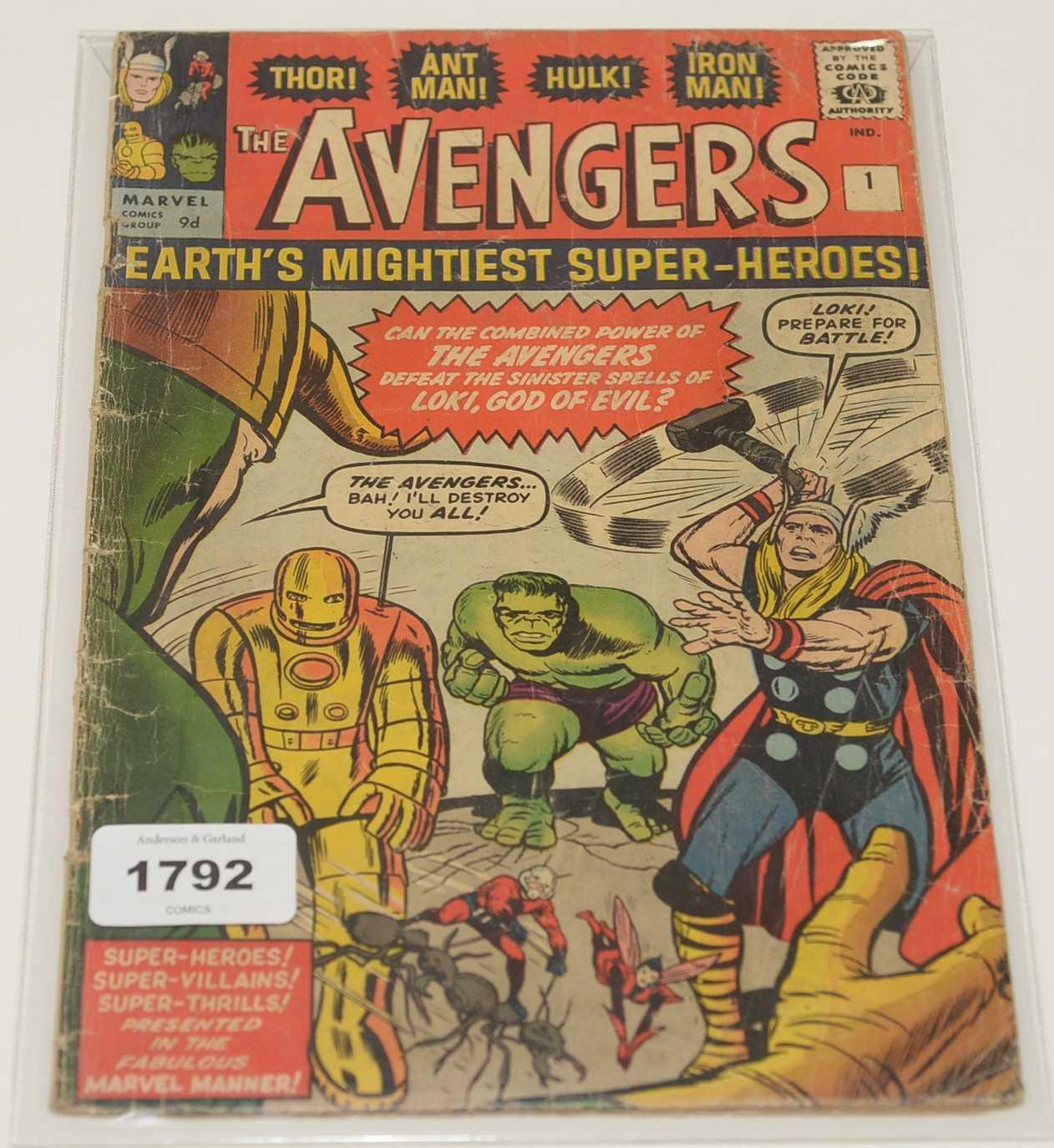 Lot 1792 - The Avengers No.1 Comic