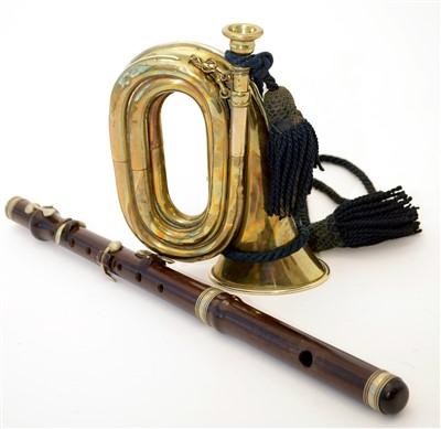 Lot 20 - Henry Keat Buglet, Rosewood flute