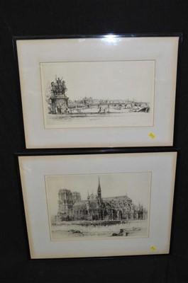 Lot 39-Frederick Arthur Farrell etchings