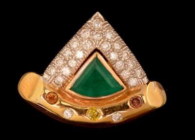 Lot 60-Emerald and diamond pendant