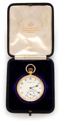Lot 47 - 18ct gold pocket watch