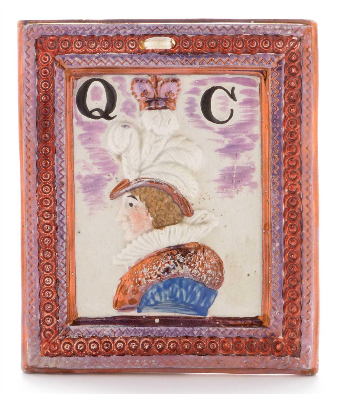 Lot 453 - Sunderland Queen Caroline plaque