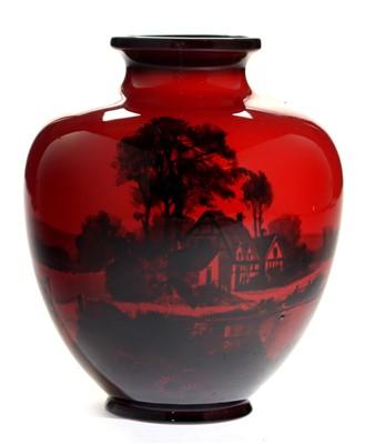 Lot 1505-Doulton flambe vase