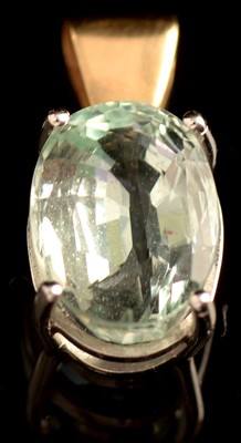 Lot 74-Aquamarine pendant
