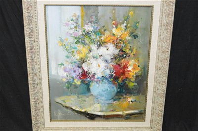 Lot 87-Ingfried Paul Henze Morro oil painting