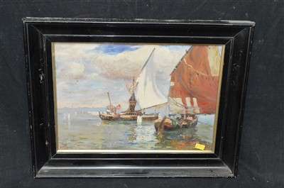 Lot 84-T* H* W* oil painting