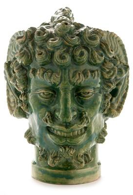 Lot 1507-Studio pottery Satyr wine ewer