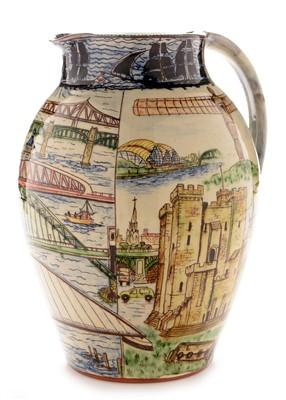 Lot 1524-Studio pottery jug by P and M Thomas Berwick-upon-Tweed