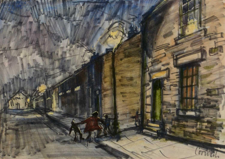 Lot 537-Norman Stansfield Cornish - watercolour.