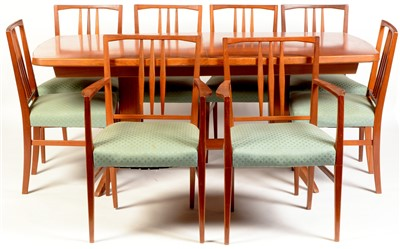 Lot 1578-Gordon Russell table and eight chairs.
