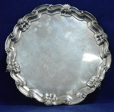 Lot 40-Silver salver