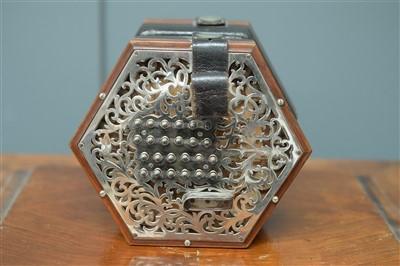 Lot 74-Lachenal 48 button English system concertina