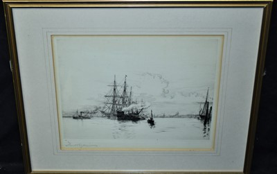 Lot 506-Harold Wyllie etching