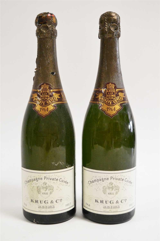 Lot 384-Two bottles of 1964 Krug