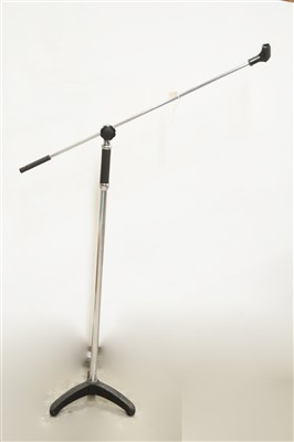 Lot 56 - A chromed and black finish microphone stand.