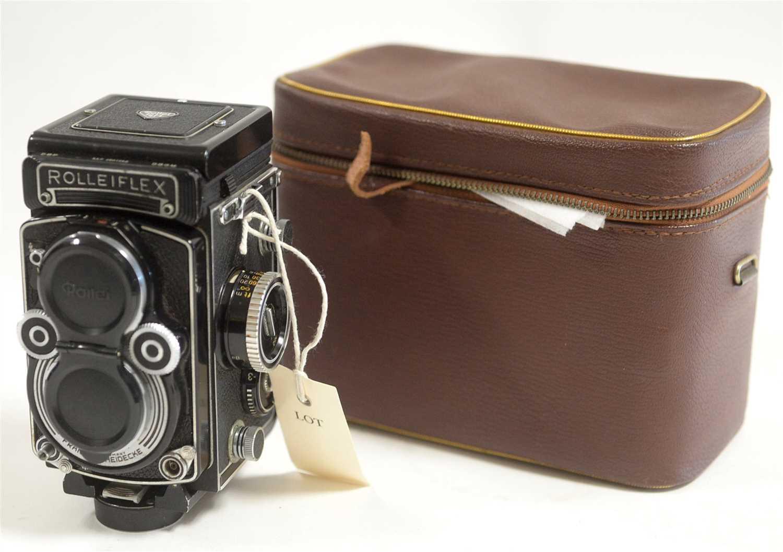 Lot 1425-A Rolleiflex 3.5 FTLR camera.