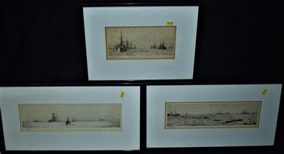 Lot 530-William Lionel Wyllie etchings