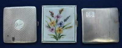 Lot 14-Three silver cigarette cases