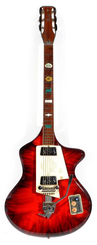 Lot 174 - 1960's Wandre Spazial Guitar