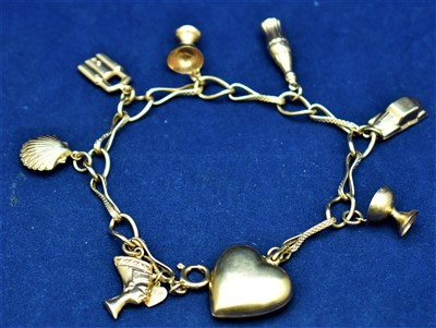 Lot 1-18ct gold bracelet