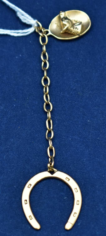 Lot 2-9ct gold key chain
