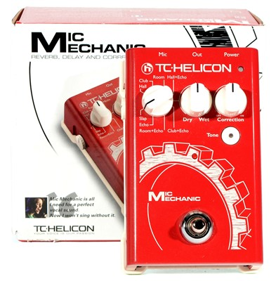 Lot 77 - T C Helicon Mic Mechanic Reverb, delay pedal