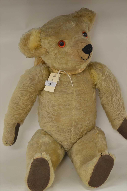 Lot 1205-A golden-plush teddy bear.