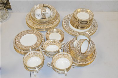 """Lot 241 - Wedgwood """"Gold Florentine"""" tea and dinner ware"""