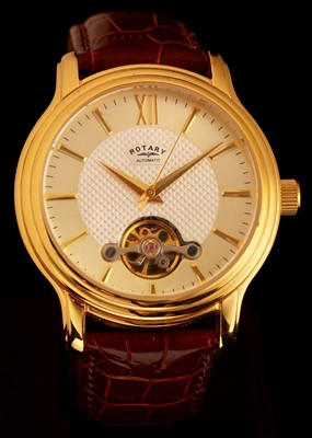 Lot 37 - Rotary: a gentleman's stainless steel and gilt automatic wristwatch