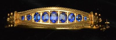 Lot 71-Sapphire bangle