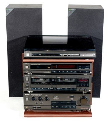 Lot 45 - Technics sound system with two KEF C series speakers