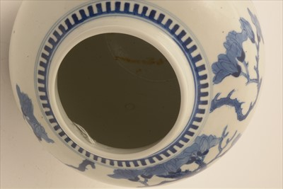 Lot 466-Late 19th Century Chinese blue and white Ginger Jar
