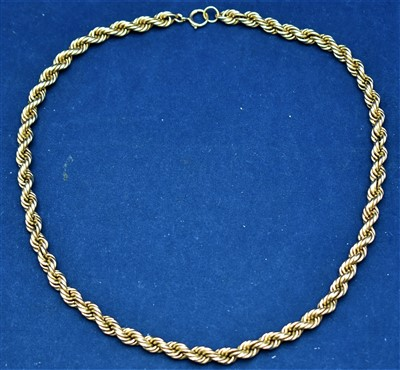 Lot 9-9ct gold necklace
