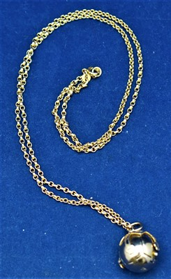 Lot 11-Ball pendant and chain