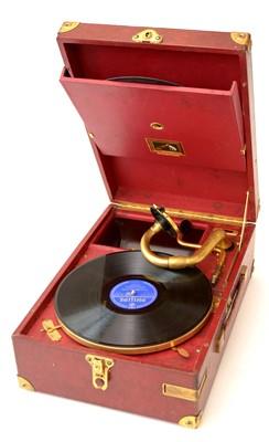 Lot 82 - An HMV portable gramophone.